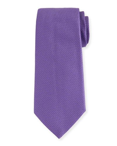 Woven Neat Micro-Dot Tie, Purple