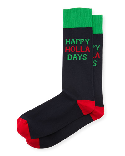 Happy Holla Days Socks
