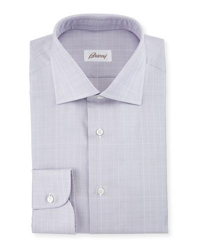 Prince of Wales Woven Dress Shirt