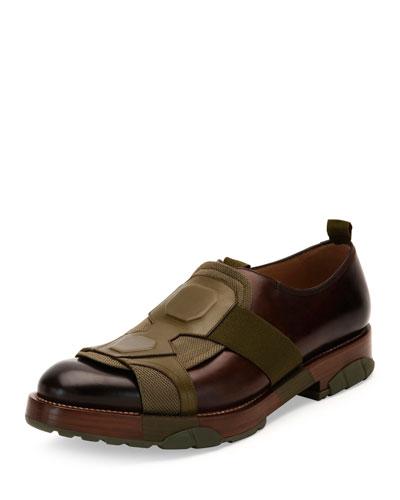 Runway Slip-On Shoe, Mahogany/Green