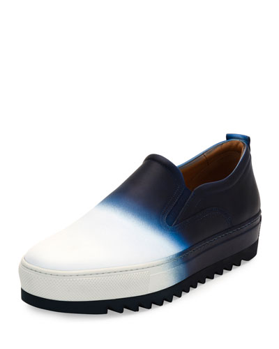 Lucca 5 Dégradé Calfskin Sneaker with Archival Sawtooth Sole