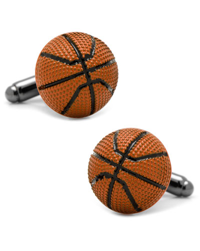 3D Basketball Cuff Links