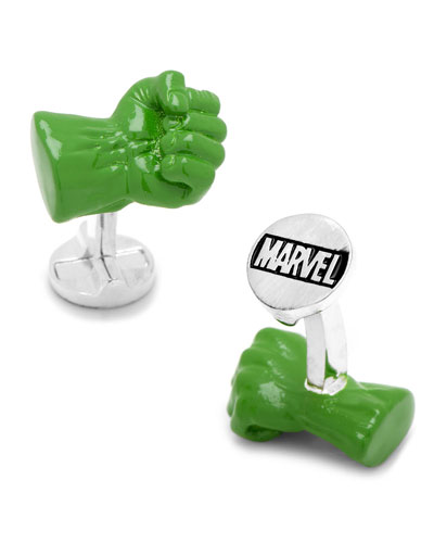 3D Hulk Fist Cuff Links