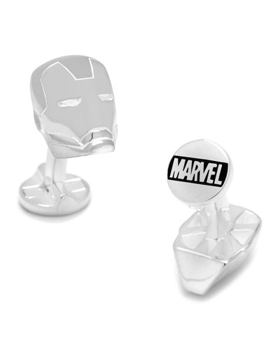 Iron Man Sterling Silver Cuff Links