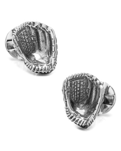Sterling Silver Baseball Glove Cuff Links