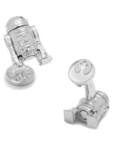 Star Wars R2D2 Sterling Silver Cuff Links