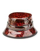 Tortoise Vinyl Camper Hat, Brown