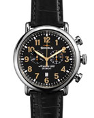 47mm Runwell Chronograph Men's Watch, Black