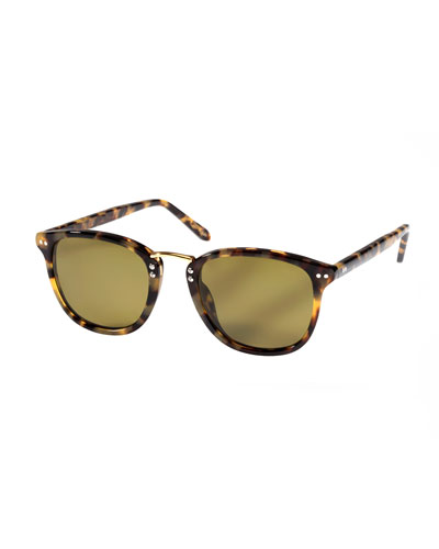 Franklin Polarized Acetate Sunglasses, Blonde Tortoise