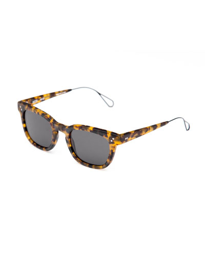 Avery Square Acetate Sunglasses, Matte Rex
