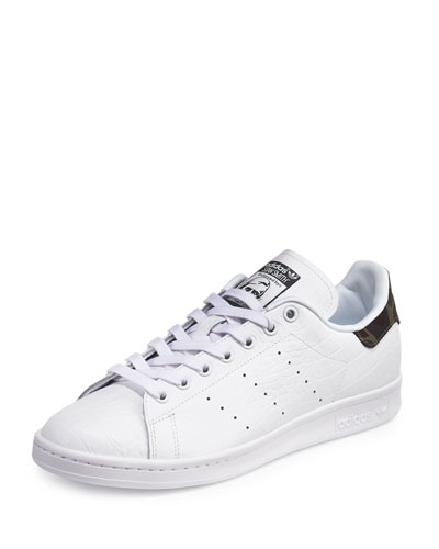 Men's Stan Smith Original Sneaker w/Camo Patch, White