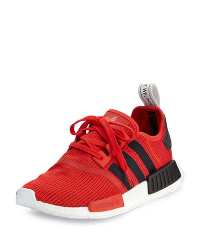 Men's NMD R1 Lace-Up Sneaker, Red/Black/White