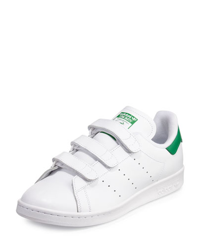 Quick Look. Adidas � Men\u0027s Stan Smith Triple-Strap Sneaker, White/Green