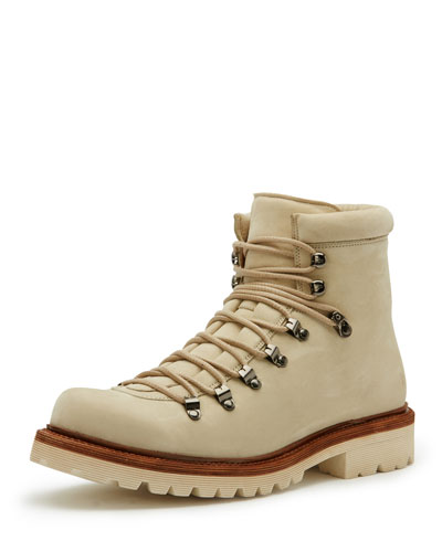 Woodson Suede Hiker Boot, Ivory