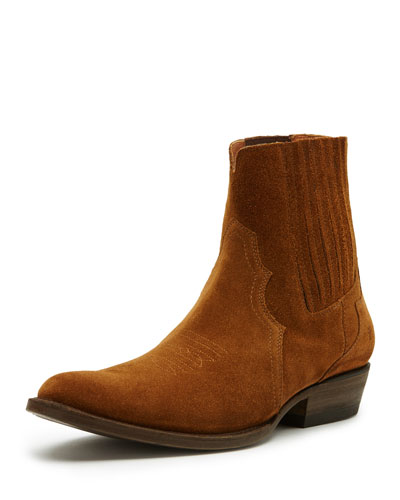Austin Suede Western Chelsea Boot, Copper