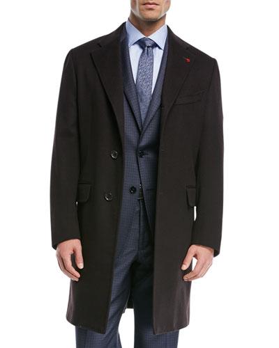 Solid Wool Top Coat