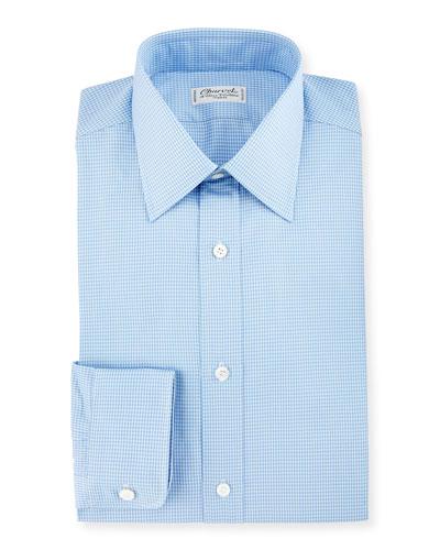 Small Check Dress Shirt, Blue
