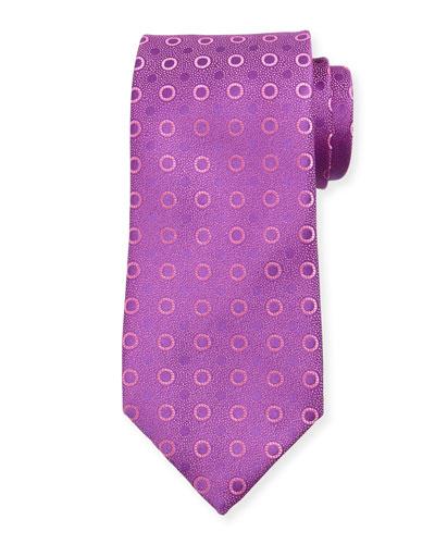 Dot-Print Silk Tie