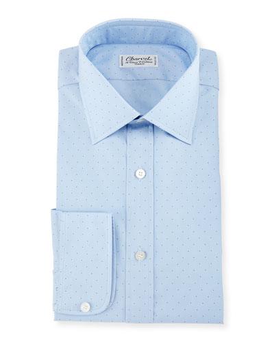 Pin Dot Dress Shirt, Blue