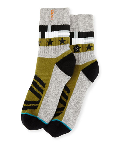 x Dwayne Wade Decorated Socks, Gray