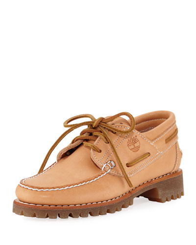 Limited Edition Bare Naked Lugged Boat Shoe, Tan