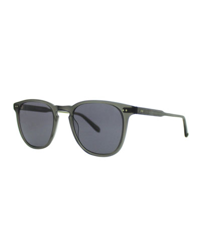 Brooks 47 Square Polarized Sunglasses, Matte Gray