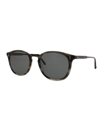 Kinney Polarized Acetate Sunglasses, Tortoise