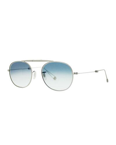 Van Buren M 49 Aviator Sunglasses, Silver