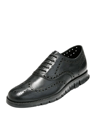 Zerogrand Wing-Tip Oxford, Black