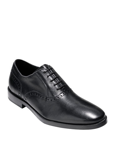 Hamilton Grand Plain-Toe Oxford, Black