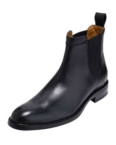 Warren Waterproof Leather Chelsea Boot, Black