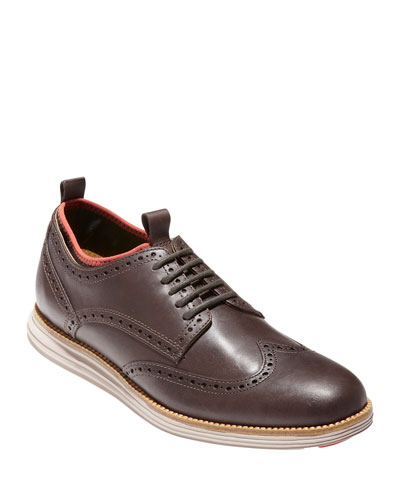 ØriginalGrand Neoprene-Lined Wing-Tip Oxford, Chestnut/Dark Roast