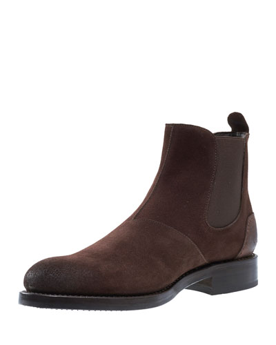 Montague Suede Chelsea Boot, Brown