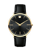 40mm Ultra Slim Watch, Black
