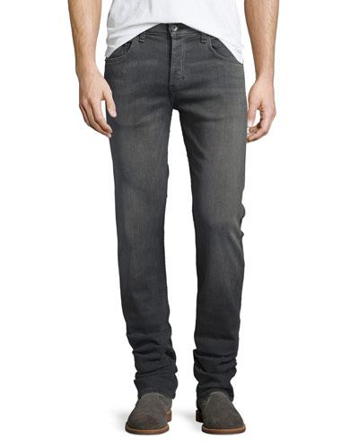 Fit 3 Straight-Leg Denim Jeans, Silver