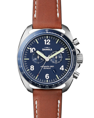 44mm Rambler Tachymeter Watch, Tan