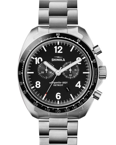 44mm Rambler 600 Tachymeter Watch, Silver