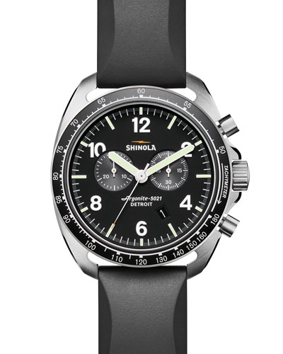 Men's 44mm Rambler Tachymeter Watch, Black