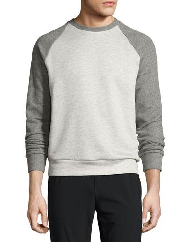 Veton B Axis Terry Sweatshirt, Light Gray