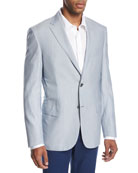 Fine-Line Wool-Silk Sport Coat