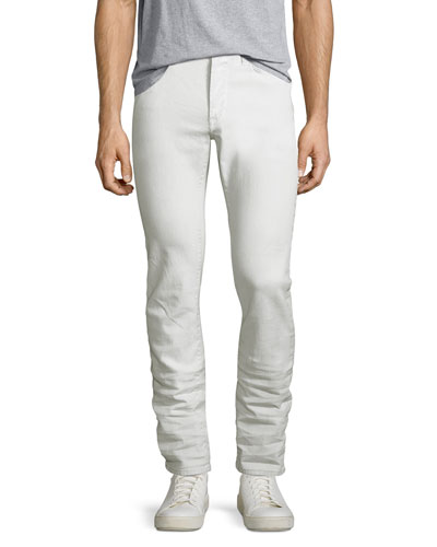 Wight Coated Skinny Jeans, White