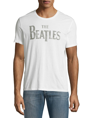 The Beatles Logo Graphic T-Shirt, White