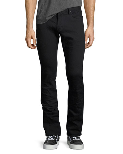 Wight Stretch-Denim Skinny Jeans, Black