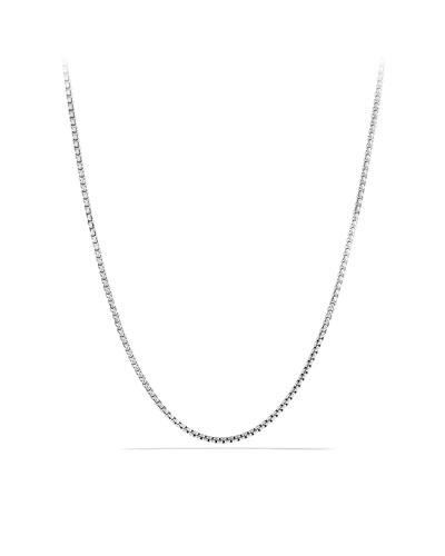 Men's Small Sterling Silver Box Chain Necklace, 26