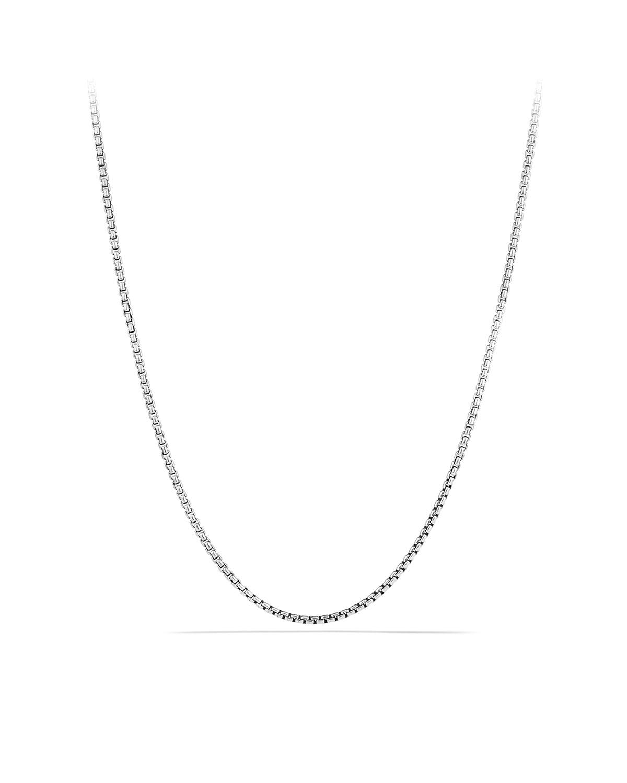 Men's Small Sterling Silver Box Chain Necklace