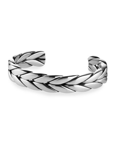 Men's Sterling Silver Modern Cable Cuff