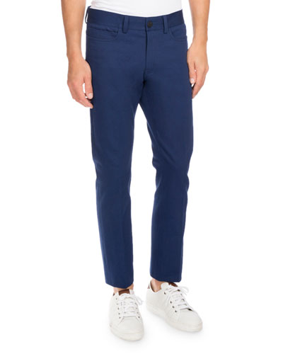 Five-Pocket Slim-Straight Jeans, Navy Blue