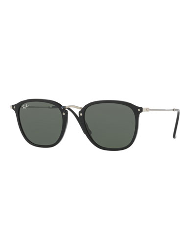 Men's Square Solid Sunglasses