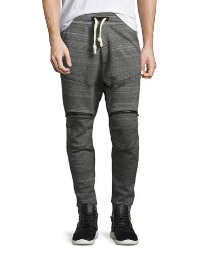 Lucas 5622 Space-Dye Sweatpants, Black