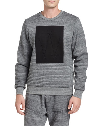 Lucas Thec Space-Dye Sweatshirt, Black